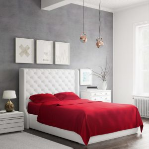 Bed Sheet Set_Red_Side