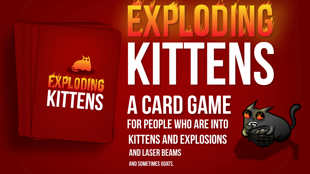 Card game exploding kittens as one of cool gifts idea