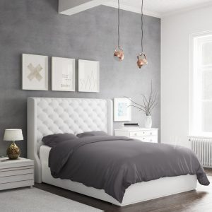 Bamboo Duvet Set Charcoal 320 Side