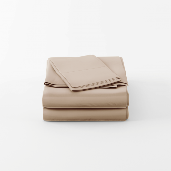 Queen size bamboo sheet set in tan