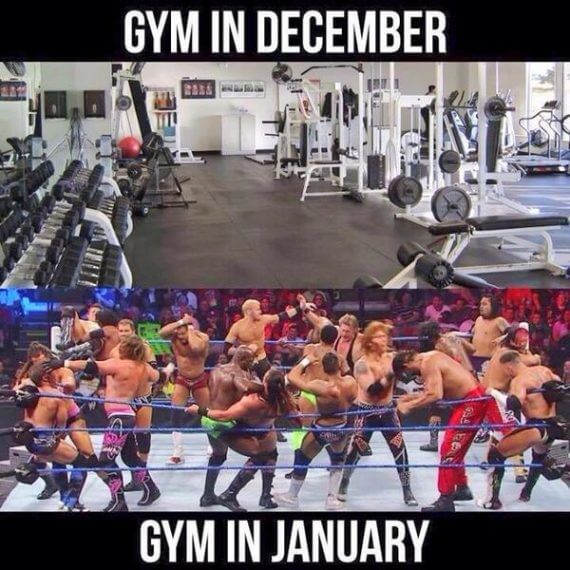 Common New Year Resolution - GYM